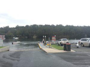 Double boat ramp at Nelligen